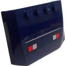 LEGO Dark Blue Wedge 4 x 6 Curved with Emergency Lights Sticker
