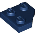 LEGO Dark Blue Wedge Plate 2 x 2 (45º) (26601)
