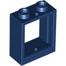 LEGO Dark Blue Window 1 x 2 x 2 without Sill (60592)