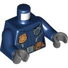 LEGO Dark Blue Woman Police Minifig Torso (76382)