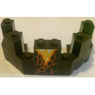 LEGO Dark Brown Brick 4 x 8 x 2.333 Turret Top with Lava from Set 70321 Sticker