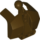 LEGO Dark Brown Chest Plate with Neck Ball Joint (24124)