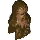 LEGO Dark Brown Chewbacca Upper Body and Head (16781)