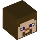 LEGO Dark Brown Figure Head with Minecraft Steve (20044 / 28266)