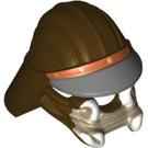 LEGO Dark Brown Lando Calrissian - Skiff Guard Outfit Lando Helmet (10466)