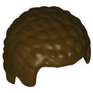 LEGO Dark Brown Minifig Coiled Hair (21778)