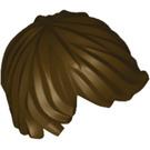 LEGO Dark Brown Minifigure Left-Swept Tousled Straight Hair (18226 / 87991)