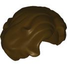 LEGO Dark Brown Minifigure Side-Part Side-Swept Wavy Hair (34283)