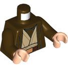 LEGO Dark Brown Obi Wan Kenobi Minifig Torso (76382)