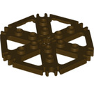 LEGO Dark Brown Plate 6 x 6 Hexagonal with Six Spokes and Clips (64566)