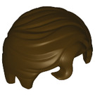 LEGO Dark Brown Short Hair with Front Curl (98726)