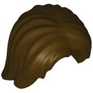 LEGO Dark Brown Shoulder Length Tousled Hair with Center Parting (88283)