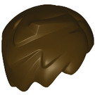 LEGO Dark Brown Tousled Minifig Hair with Side Parting (20597)