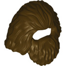 LEGO Dark Brown Wig (37784)
