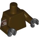 LEGO Dark Brown Wullffwarro Minifig Torso (88585)