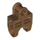 LEGO Dark Flesh Ball Connector with Perpendicular Axleholes and Vents and Side Slots (32174)