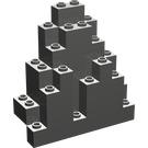 LEGO Dark Gray Panel 3 x 8 x 7 Rock Triangular (6083)