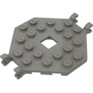 LEGO Dark Gray Plate 6 x 6 Open Center without 4 Corners with 4 Clips (2539)