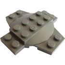 LEGO Dark Gray Plate 6 x 6 x 0.667 Cross with Dome (30303)