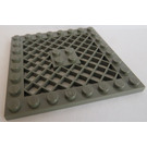 LEGO Dark Gray Plate 8 x 8 with Grille (No Hole in Center) (4151)