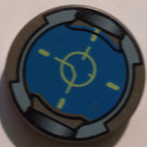 "LEGO Dark Gray Tile 2 x 2 Round with Reticle with ""X"" Bottom"