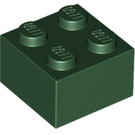 LEGO Dark Green Brick 2 x 2 (3003)