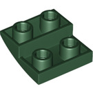 LEGO Dark Green Slope 2 x 2 Curved Inverted (32803)