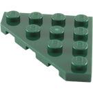 LEGO Dark Green Wedge Plate 45° 4 x 4 (30503)