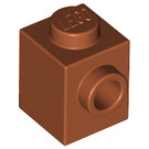 LEGO Dark Orange Brick 1 x 1 with Stud on 1 Side (87087)