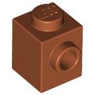LEGO Dark Orange Brick 1 x 1 with Stud on One Side (87087)