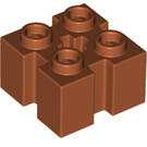 LEGO Dark Orange Brick 2 x 2 with Slots and Axlehole (39683)
