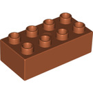 LEGO Dark Orange Duplo Brick 2 x 4 (3011 / 31459)