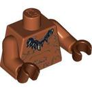 LEGO Dark Orange Native Torso with Tooth Necklace (76382)