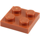 LEGO Dark Orange Plate 2 x 2 (3022)