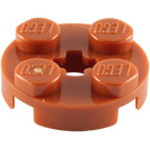 LEGO Dark Orange Round Plate 2 x 2 with Axle Hole (with '+' Axle Hole) (4032)