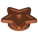 LEGO Dark Orange Star Symbol Star with tube And Hole Ø1.5 (11609 / 28619)
