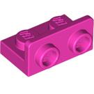 LEGO Dark Pink Bracket 1 x 2 - 1 x 2 Up (99780)