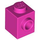 LEGO Dark Pink Brick 1 x 1 with Stud on One Side (87087)