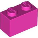 LEGO Dark Pink Brick 1 x 2 (3004)