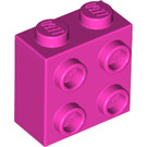 LEGO Dark Pink Brick 1 x 2 x 1.66 with Studs on 1 Side (22885)
