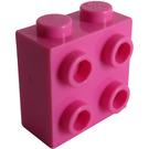 LEGO Dark Pink Brick 1 x 2 x 1.66 with Studs on One Side (22885)