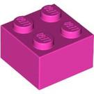 LEGO Dark Pink Brick 2 x 2 (3003)