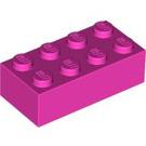 LEGO Dark Pink Brick 2 x 4 (3001)
