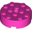 LEGO Dark Pink Brick 4 x 4 Round with Hole (87081)