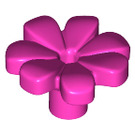 LEGO Dark Pink Flower with Squared Petals and Pin (32606)