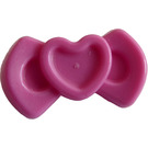 LEGO Dark Pink Hair Bow with Heart Design (92355)