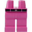 LEGO Dark Pink Hips and Legs with Black Belt, Silver Buckle and Pink Belt Loops Pattern
