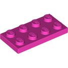 LEGO Dark Pink Plate 2 x 4 (3020)