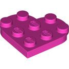LEGO Dark Pink Plate 3 x 3 Heart (39613)