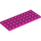 LEGO Dark Pink Plate 4 x 10 (3030)